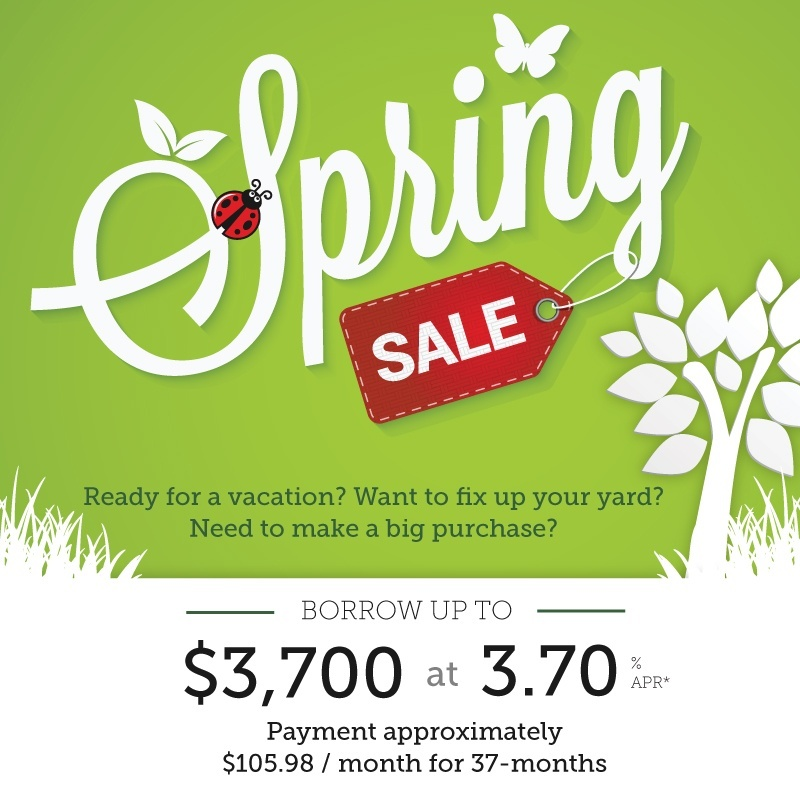 Take advantage of our spring personal loan special - learn more.