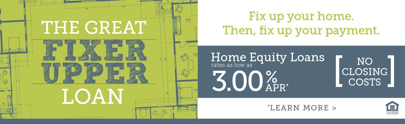 The great fixer upper loan - get a home equity loan from Front Royal for as low as 3% APR.