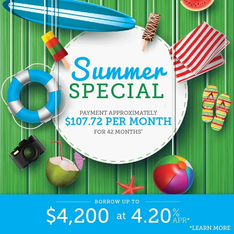 Borrow for whatever you need with our summer personal loan special. Click for more.