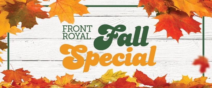 Front Royal fall personal loan special