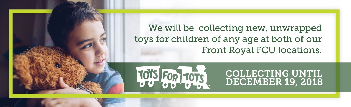 This holiday season we will be collecting Toys for Tots. Drop off your unwrapped items now through December 19!