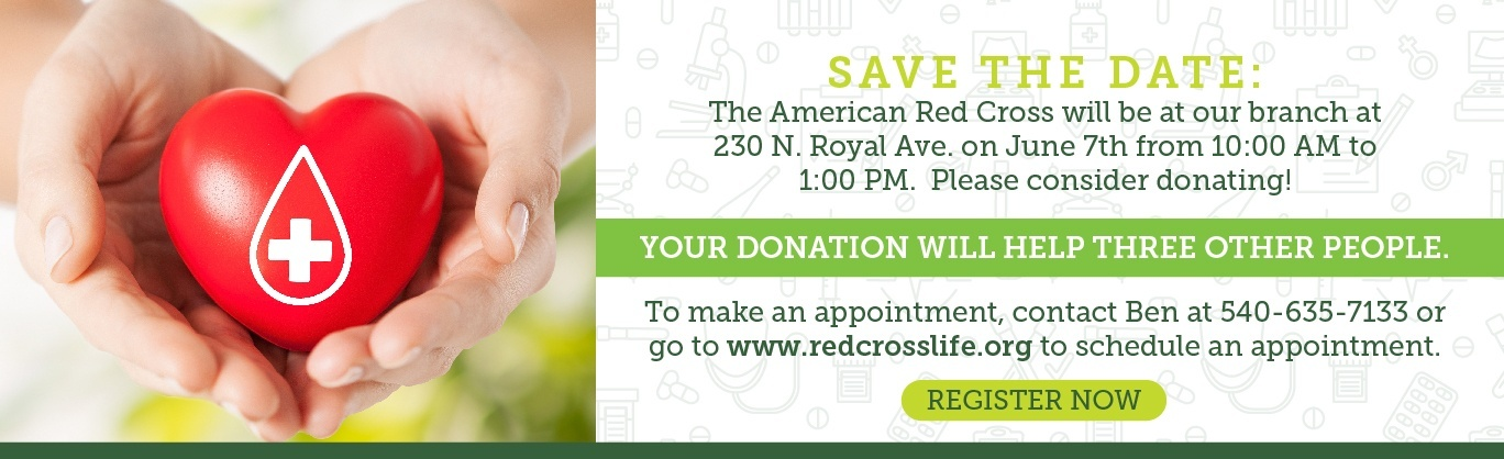 Join us for our blood drive on June 7!