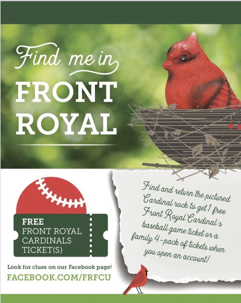 Find me in Front Royal cardinal rock scavenger hunt