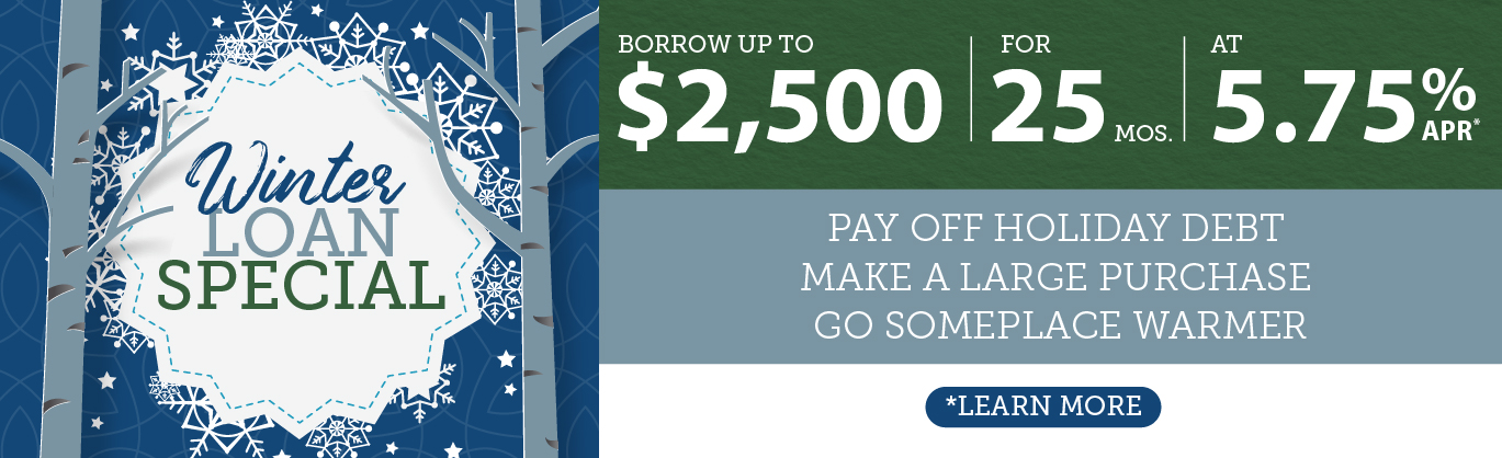 Winter Loan Special - Borrow $2,500 for 25 months at 5.75% APR*