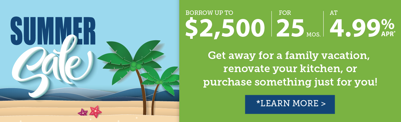 Summer Loan Special - Borrow $2,500 for 25 months at 4.99% APR*