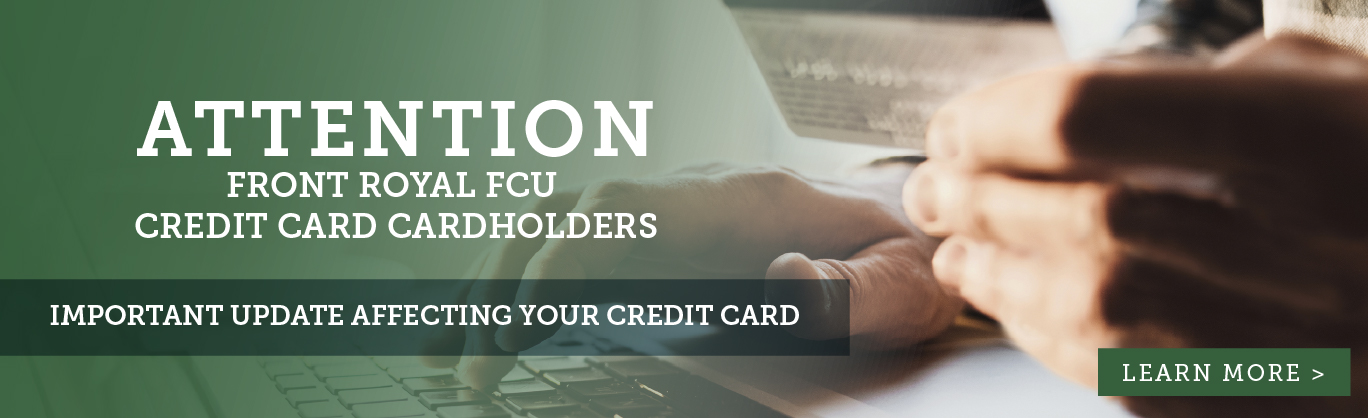 Important update affecting your credit card